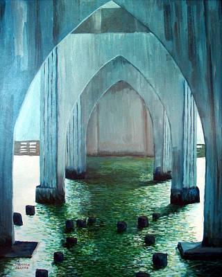 Siuslaw River Bridge Art Print by Kenny Henson