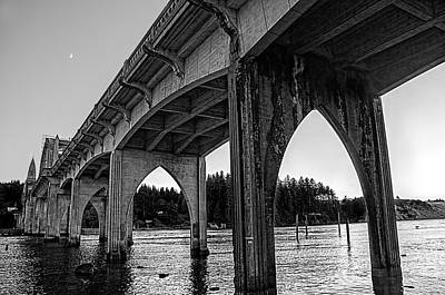 Photograph - Siuslaw River Bridge Portrait by Lara Ellis