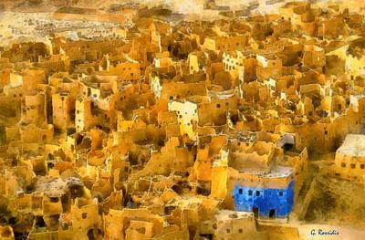 Rossidis Painting - Siwa Oasis by George Rossidis
