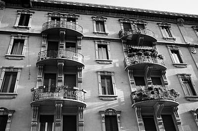 Photograph - Six Bowed Balconies by Alex Roe