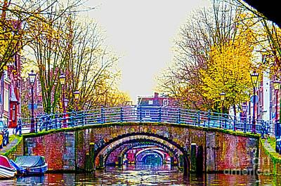 Amsterdam Digital Art - Six Bridges by Pravine Chester