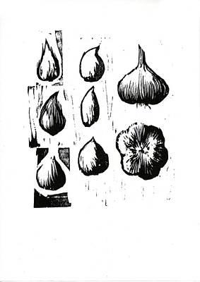 Cookbook Digital Art - Six Cloves Of Garlic by David Esslemont