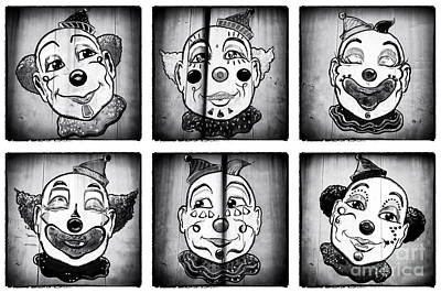 Six Clowns Art Print by John Rizzuto