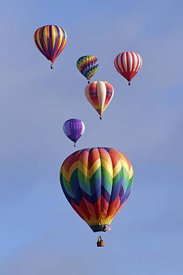 Photograph - Six Colorful Balloons by Wes and Dotty Weber
