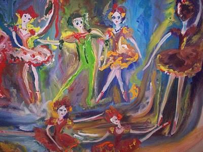 Six Eight Waltz Art Print by Judith Desrosiers