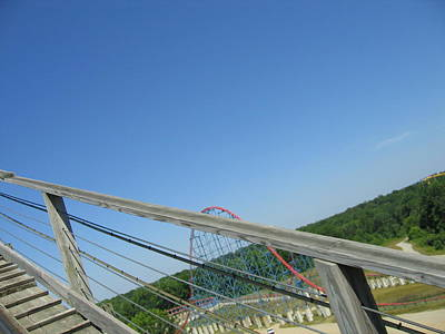 Sixflags Photograph - Six Flags America - Roar Roller Coaster - 12122 by DC Photographer