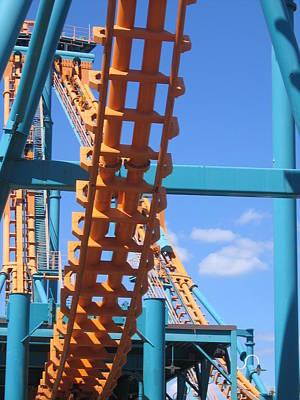 Six Flags America - Two-face Roller Coaster - 12121 Art Print