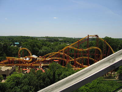 Sixflags Photograph - Six Flags America - Wild One Roller Coaster - 121211 by DC Photographer