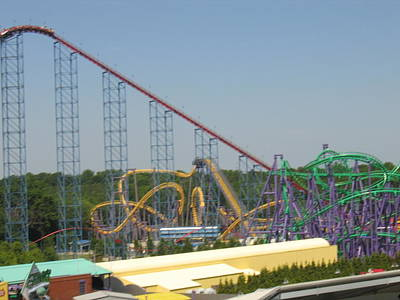 One Photograph - Six Flags America - Wild One Roller Coaster - 12123 by DC Photographer