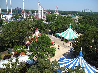 Six Flags Great Adventure - 121210 Art Print by DC Photographer