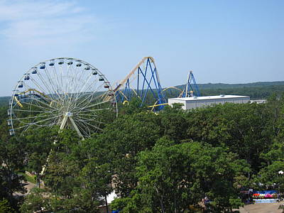Jersey Photograph - Six Flags Great Adventure - 12127 by DC Photographer