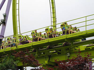 Medusa Photograph - Six Flags Great Adventure - Medusa Roller Coaster - 12121 by DC Photographer