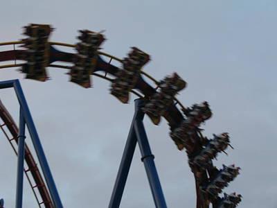 Sixflag Photograph - Six Flags Great Adventure - Medusa Roller Coaster - 12126 by DC Photographer