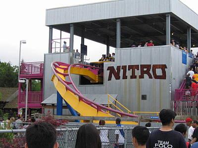Six Flags Great Adventure - Nitro Roller Coaster - 12121 Art Print
