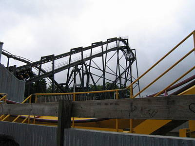 Six Flags Great Adventure - Nitro Roller Coaster - 12122 Print by DC Photographer