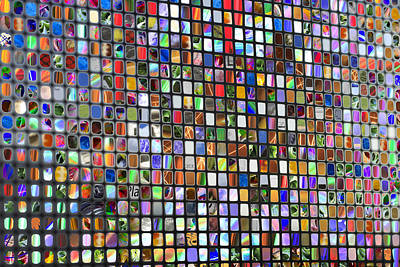 Six Hundred Rectangles Art Print by Don Gradner