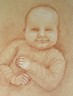 Six Months Old Art Print by Deborah Dendler