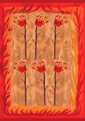 Tarot Painting - Six Of Wands by Sushila Burgess