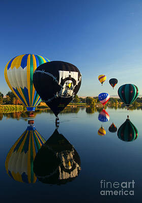 Balloons Photograph - Six On The Pond by Mike  Dawson