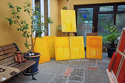 Figures Painting - Six Paintings In Yellow by Charles Stuart