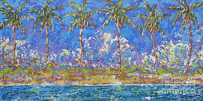 Painting - Six Palms by Audrey Peaty