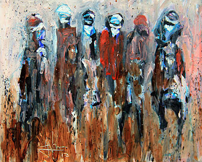 Painting - Six Riders by Jim Vance