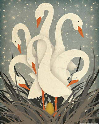 Snow Geese Painting - Six by Ryan Fowler
