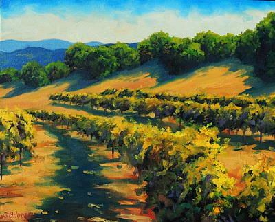 California Vineyard Painting - Six Sigma Vineyards by Steven Guy Bilodeau