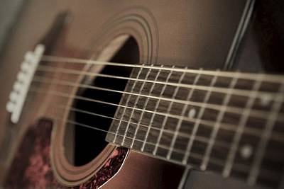 Music Photograph - Six String by Photographic Arts And Design Studio