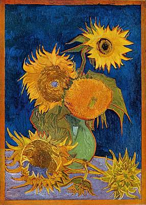 Painting - Six Sunflowers by Vincent van Gogh