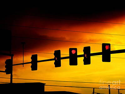 Photograph - Six Traffic Lights by Renee Trenholm