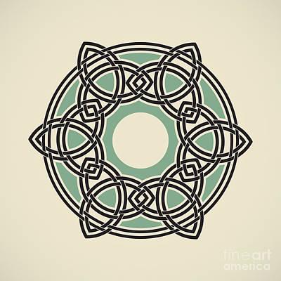 Six Triquetras Mandala Art Print