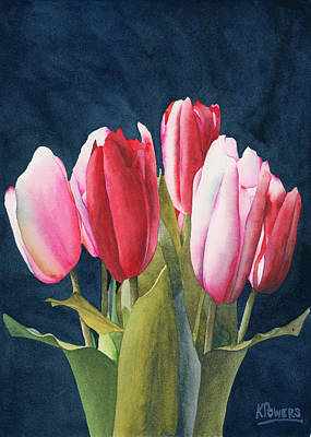 Painting - Six Tulips by Ken Powers