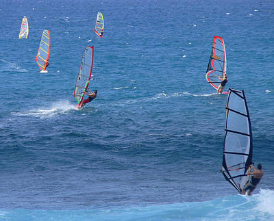 Photograph - Six Windsurfers by John Orsbun