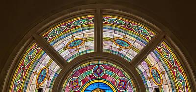 Glass Art Photograph - Sixteenth Street Baptist Church Stained Glass - Birmingham Alabama by Mountain Dreams