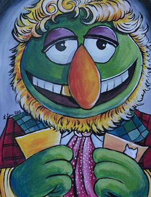 Dr. Teeth Painting - Sixth Doctor Dr. Teeth  by Lisa Leeman