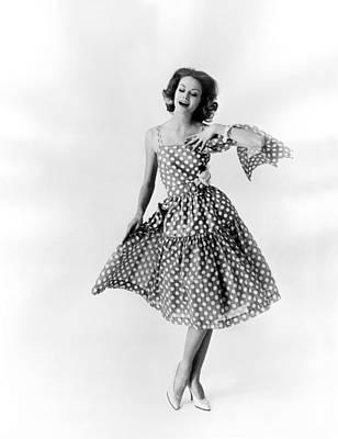 Sixties Dance Dress Fashion Art Print by Underwood Archives