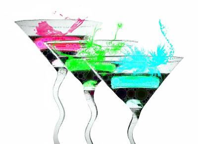 Martini Digital Art - Sizzling Drinks by Cindy Edwards