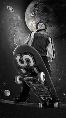 Photograph - Skate The Universe by Kevin Cable