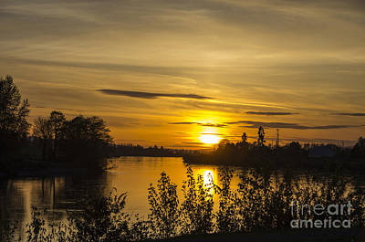 Photograph - Skagit Sunset by Louise Magno