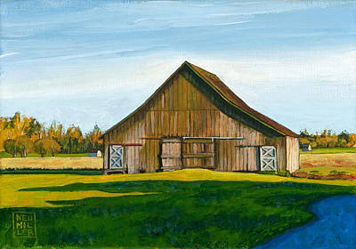 Painting - Skagit Valley Barn #3 by Stacey Neumiller