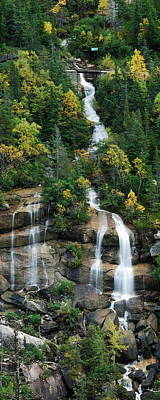 Landscapes Royalty-Free and Rights-Managed Images - Skagway Waterfall Vertical Panorama by Michael Peychich