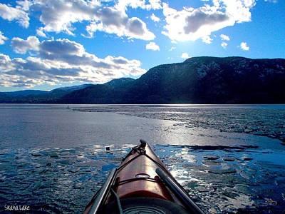 Skaha Lake Kayaking 004 2-20-2014 Art Print