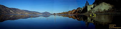 Art Print featuring the photograph Skaha Lake Kayaking Panorama by Guy Hoffman