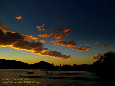 Art Print featuring the photograph Skaha Lake Sunset 02 July02/2013 by Guy Hoffman