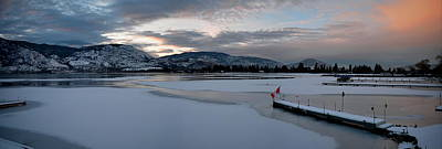 Skaha Lake Sunset Panorama 02-27-2014 Art Print