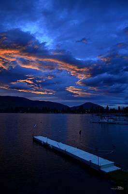 Photograph - Skaha Lake Sunset2 7-5-2014 by Guy Hoffman