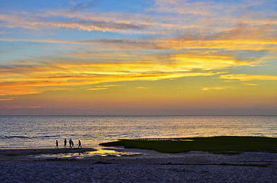 Photograph - Skaket Beach Sunset 5 by Allen Beatty