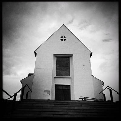 Skalholt Cathedral Iceland Europe Black And White Art Print by Matthias Hauser