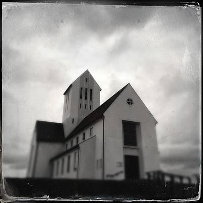 Grey Photograph - Skalholt Church In Iceland by Matthias Hauser